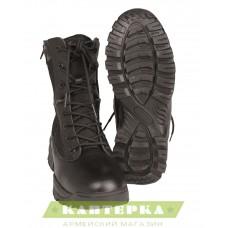 Тактические ботинки на шнуровке и 2-х молниях цвет черный