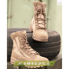 Тактические ботинки на шнуровке и 2-х молниях цвет coyote