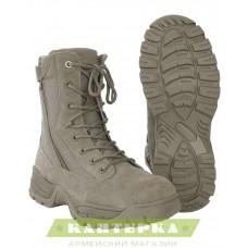 Тактические ботинки на шнуровке и 2-х молниях цвет олива
